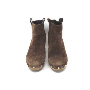 Tory Burch Suede Booties Boots Ankle 8 Brown